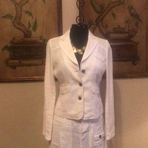 Gorgeous white blazer with Fossil purse
